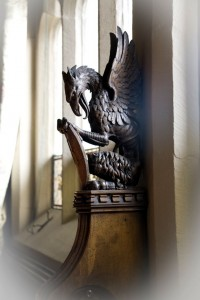 Mayor's Parlour Bench end carving