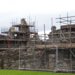 Conservation work at Sawley Abbey