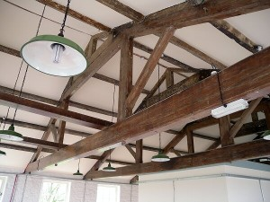 Lomeshaye Bridge Mill roof trusses