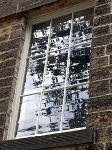 Lomeshaye Bridge Mill window refelections