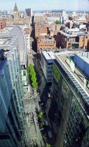 Click to enlarge – Manchester city centre from 3 Hardman Street