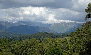 Lakeland mountains seen from the gardens